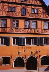 Rothenburg, Germany (Seleusleaf) Tags: medieval half timbered hotel orange brown