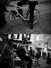[La Mia Città][Pedala] (Urca) Tags: milano italia 2017 bicicletta pedalare ciclista ritrattostradale portrait dittico bike bycicle nikondigitale scéta biancoenero blackandwhite bn bw 10223