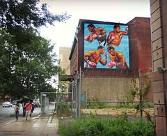Boxer Mural (goofcitygoof) Tags: picmonkey joefrazier muhammadali davemcshane bluehorizon larryholmes georgeforeman theeastonassassin