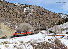 UTAH 5004 @ Price Canyon, UT (Michael Polk) Tags: utah railway sd50 mk503 emd morrison knudsen coal train freight soldier summit price river canyon denver rio grande western