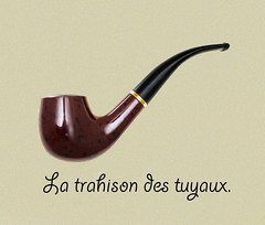 this is not a pipe (Robert Couse-Baker) Tags: renémagritte thetreacheryofimages latrahisondesimages cecinestpasunepipe thetreacheryofpipes latrahisondestuyaux pipe homage surreal