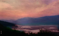 Sunrise, Sunset ... (Jan 130) Tags: sunrise dawn light daybreak seamist dyfiestuary topaz jan130 digitalpainting ngc npc