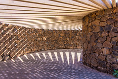 Shadow Moses (StevePilbrow) Tags: shadow playa blanca prominade lanzarote canary island spain atlantic ocean cast walkway stone wood shade light brick nikon d7200 nikkor 18105mm march 2017