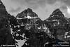 Mt Allen of the Valley of Ten Peaks (Bart Comstock) Tags: mountainscape parkscanada canadianrockies rockymountains nature nationalpark mountains banff canada landscapes alberta morainelake valleyofthetenpeaks canadanationalpark valleyofthe10peaks blackandwhite typesofphotography