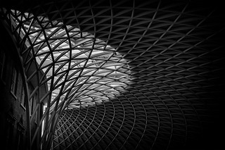 Kingscross station architectural roof