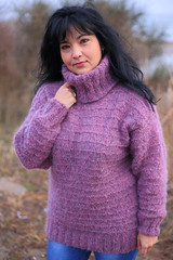 Purple design - style in knitted heavy turtleneck (Mytwist) Tags: dndss25 purple hand knitted mohair sweater highest quality wool melange pullover knitwear authentic bulky chunky cozy classic cables design designed fashion fetish fuzzy fair nodscopy grobstrick handgestrickt heavy heritage handcraft knitting love neck modern mytwist passion pulli polo retro timeless traditional thick unisex