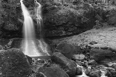 fresh and unspoilt like a new day (lunaryuna) Tags: iceland nature microlandscape waterfall brook rocks geology textures water le longexposure lunaryuna blackwhite bw monochrome