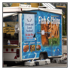 Tempting (Audrey A Jackson) Tags: canon60d geiranger norway advertising sign fishandchips colour food
