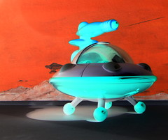 Happyland Early Learning Centre iPlay Ailen Space Ship UFO Flying Saucer With Sounds And Lights 2010 : Diorama Bonneville Salt Flats - 15 Of 17 (Kelvin64) Tags: happyland early learning centre iplay ailen space ship ufo flying saucer with sounds and lights 2010 diorama bonneville salt flats