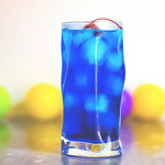 AMF drink, blue cocktail with tequila, vodka, gin, rum and blue curacao thumbnail