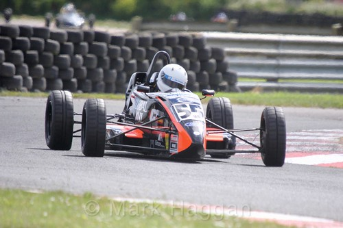 Noel Robinson in the Formula Ford FF1600 championship at Kirkistown, June 2017