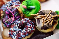 donuts lens (mfrybeasley) Tags: food donut stars sprinkles color colorful dof gummy pretzel yummy melissa fry beasley