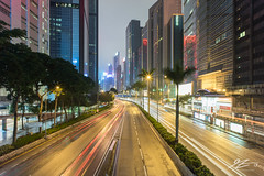 HK VICE (Tim van Zundert) Tags: road street lighttrails urban night evening longexposure towers architecture building city central cityscape skyline hongkong hongkongisland china sony a7r voigtlander 21mm ultron