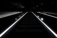 Dark Escalator (Jochem.Herremans) Tags: escalator up steel electric metal moving station staircase escalators modern glass city urban transportation transport perspective way move lift stairway subway elevator isolated design shopping mall background travel interior public airport stair walkway step
