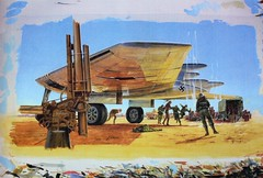 Joe Johnston concept art of the experimental plane from Raiders of the Lost Ark (1981) (Tom Simpson) Tags: indianajones raidersofthelostark behindthescenes vintage film movie 1981 1980s airplane conceptart illustration art