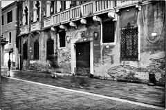 ghosts (marcobertarelli) Tags: ghosts venice evening shadows reflections detail monochrome monochromatic people freeze street photography photo historical place strada nuova scene composition