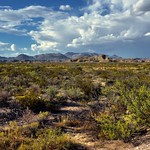 Blue Skies and Clouds Above the Rosillos Mountains (Big Bend National Park) thumbnail