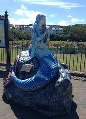 New Brighton Mermaid (Lydie's) Tags: newbrighton mermaid wallasey mermaidtrail england merseyside tail adventuregolf paleblue marine ipodtouch