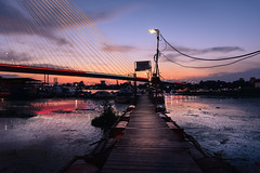 Beautiful view (Master Iksi) Tags: beautiful view beograd belgrade srbija serbia river mol sky clouds sunset nikond7100 sigma1750 sava amazing relaxation landscape colour