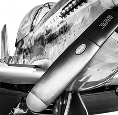 Mustang reflection (DST-photography) Tags: goodyear airport pilot trainee cockpit p51 mustang rolls royce merlin v12 engine powerful black white dramatic lightroom photoshop adobe blown out propellor wings boeing airbus bw contrast background blur airplane plane aviation general beautiful monochrome spectacular apron phoenix usa nostalgic america american