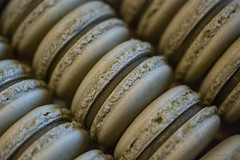Matcha green tea macarons (c.flessen) Tags: asianflavors bakedgoods chocolate ganache dessert macarons matcha snacks tea whitechocolate macrodesserts greentea foodbloggers~dessertlove