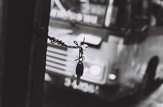 Sukhumvit Rd - Bangkok (35mm) (jcbkk1956) Tags: worldtrekker mono blackwhite street bangkok thailand key bus silhouette film nikon nikonf ilfordpan100 ilford manualfocus manualexposure 35mm analog sukhumvitroad