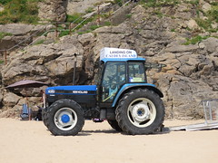 Tractor on the sand. (aitch tee) Tags: tractor beach newholland tenby dayout touristviews walesuk