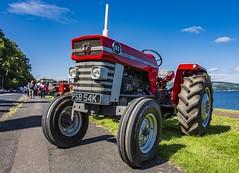 _DSC6639-Edit-2 (ROBERT292163) Tags: colours red blue green tractor sky rothesay bute scotland masseyferguson