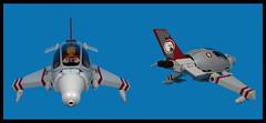 Hog Fighter (Karf Oohlu) Tags: lego moc aircraft fighter minifig