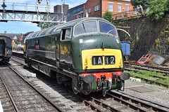 "'Warship' D832 ""ONSLAUGHT"" at Bury, ELR Diesel Gala (colin9007) Tags: railway lancashire east diesel gala bury br swindon hydraulic bb maybach warship class 42 type 4 d832 onslaught"