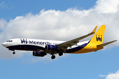 G-ZBAV Monarch Airlines Boeing 737-82R(WL) (Fabke's Aviation Photography) Tags: gzbav monarch airlines boeing b73782rwl b737 bluesky landing landinggear pmi mallorca palmademallorca 2017 charter holiday avgeek flying flyingmachine action aircraft canon photography fabke fabricehenneghien henneghien henneghienfabrice airborn airplane wings sky tail airlift airtransport air transport pilot pilots spotting cockpit spotter clouds cloud wind travelling