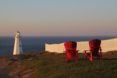 Home (Tracy Christina) Tags: lighthouse evening july chairs fence ocean newfoundland capespear canadea