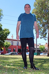 Outfit (Unusual Stylings) Tags: wardroberemix unisex freedressing tights bikeshorts meninleggings menstights mensleggings meggings guyinleggings menwearingleggings manwearingleggings guywearingleggings menwearingtights manwearingtights guywearingtights guyintights maninleggings manintights menintights boots booties anklebooties patent patentboots ankleboots