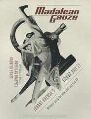 Madalean Gauze gig poster (mightyjoecastro) Tags: mightyjoecastromixedmediacollagecutpasterayjohnson madalean gauze poster silkscreen gig band music philadelphia print art arte graphic design