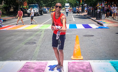 2017.06.10 Painting of #DCRainbowCrosswalks Washington, DC USA 6379