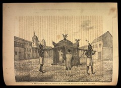 A Brazilian sedan chair, a person begging for the church (BNDigital) Tags: liteira transporte transportation colonial mendigo pedinte