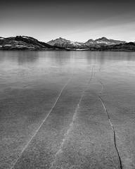 Lofoten -2-2 (lanstil) Tags: beach frozenlake icepatterns lofotenislands sunsetcolours