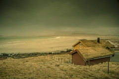 Land of Vikings (Sizun Eye) Tags: moskenesøya ytresand vikings houses beach sea moody atmosphere nordland norway europe old mist clouds sizuneye tamron2470mmf28 tamron nikond750 d750 nikon gettyimages