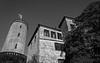 Sparrenburg (FSR Photography) Tags: burg turm sparrenburg himmel bw blackandwhite blackwhite bäume canon canon400d canondslr monochrome monochrom castle tower light leaves licht sky travel reise reisefotografie burgen fsr fsrphotography