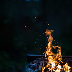 Nuotio / Campfire (JuNu_photography) Tags: summer campfire fire flames