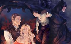 Bruce Wayne and batman (Looking for a story) Tags: batman brucewayne dc painting