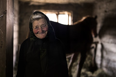 (silvia pasqual) Tags: romania romanian europe people person photo photography travel traveling maramures woman old elderly portrait portraiture human world soul travelers horse happy happiness smile smiling sweet light beautiful