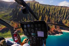 Helicopter flight in Kauai (R_Meier) Tags: hawaii kauai helicopter jack harter flight doors off fujifilm napalicoast samyang 12mm xt1 water coast coastline
