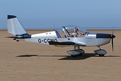 G-CCMO (QSY on-route) Tags: gccmo lancashire landing 2017 knott end beach airfield 17062017