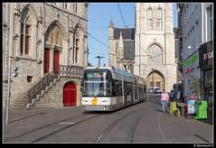 DL 6318 - Korenmarkt (Spoorpunt.nl) Tags: 10 juni 2017 de lijn hermelijn 6318 korenmarkt emile braunplein gent 4