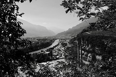 Classical painting (lorenzomiori) Tags: trento italy landscape blackandwhite painting x100f acros rivers ruins