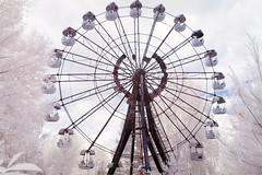 Wheel of destruction, Pripyat (Sean Hartwell Photography) Tags: ferriswheel funfair fairground pripyat chernobyl ukraine ussr ir infrared abandoned city desolation nuclear accident radiation radioactive fallout nuclearwinter