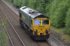 66526 'Driver Steve Dunn (George)', Sutton Park (JH Stokes) Tags: class66 suttoncoldfield suttonpark westmidlands birmingham freightlocomotive freighttrains lightengine freightliner 66526 driverstevedunngeorge