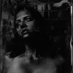 the sea is turning it's dark pages... (Eric Baggett) Tags: analog collodion wetplate alternativeprocess monochrome bnw collodionwetplate tintype alumitype happyaccidents