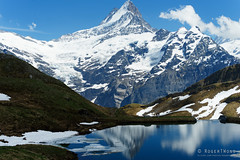 20170610-71-Mountains of the Swiss Alps (Roger T Wong) Tags: 2017 bachalpsee berncanton bernesehighland berneseoberland first rogertwong sel70300g schreckhorn sony70300 sonya7ii sonyalpha7ii sonyfe70300mmf2556goss sonyilce7m2 switzerland hike hills ice lake mountains outdoors snow tramp travel trek walk water